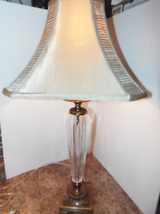 Bombay Brass Glass Marble Tall Table Lamp! Very Chic & Classic!