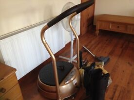 Vibration plate only used a few hours. Weight loss and fitness