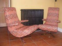 Pair of Designer FAMA Swing Chairs