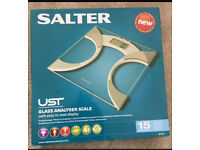 Salter 9141 Ultra Slim Body Fat Analyser Scales Silver