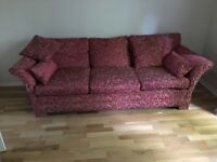 three seater patterned sofa