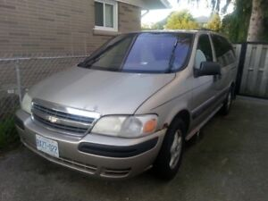 2001 Extended Chevrolet Venture AS IS