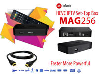 MAG 256 BOX , 12 MONTHS IPTV SERVICE FULL HD QUALITY,7 DAYS CATCH UP&EPG SERVICES(PRICE CRASH SALES)
