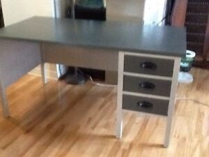 Grey wood desk