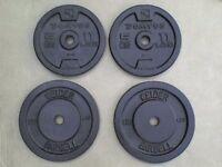 47 lb 21.4 kg Metal Dumbbell Barbell Weights - Heathrow