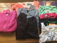 Ladies clothes bundle size 8/small- 6 tops, 2 cardigans and 1 hoody