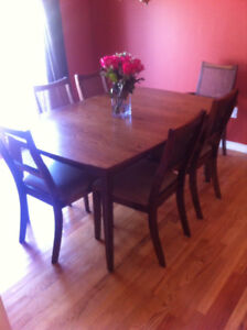 Wooden 6 chair dining table set
