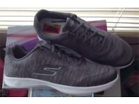 BRAND NEW AND BOXED GREY SKETCHERS TRAINERS SIZE 6......