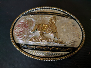 Silver and Gold Belt Buckle
