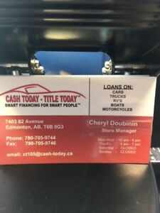 I CAN LOAN ON YOUR TITLE IN DOOR HEATED STORAGE