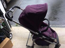 I candy cherry pushchair with cot bed
