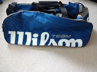 Wilson Team Racquet Sports Bag - Tennis Squash Badminton Racket Holder