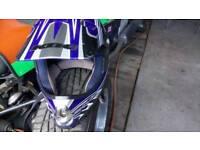 Kbc helmet and motocross autograss goggles