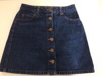 Miss Selfridges denim mini skirt size 6 £10