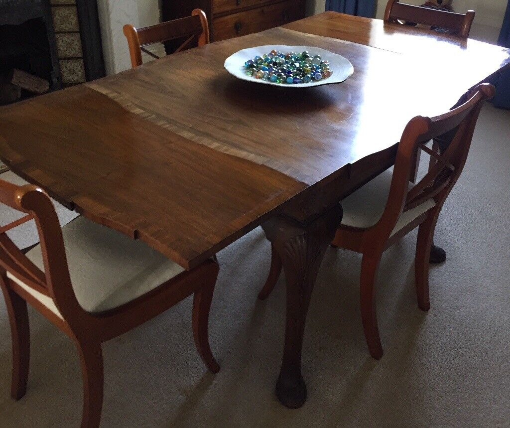 antique dining table (square with pull out leaves) | in plymouth