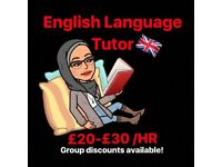 English Tutor (ESL, Nat 5, Higher, One-on-One and Group)