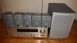 YAMAHA 6.1 CHANNEL RECEIVER + JVC 5.1 SPEAKERS WITH SUBWOOFER