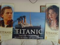 Original 1998 Titanic Movie Film Posters Advertisement for the Video Release for sale  London