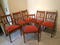 4 dining chairs and 2 matching carvers