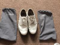 Adidas size 9 golf shoes with bags