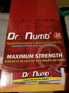 Have a few tubes of Dr Numb left