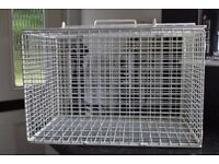 White Wire Pet Carrier