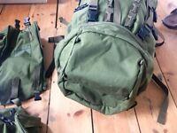 Karrimor SF Sabre 45 + 2 PLCE Side Pockets Rucksack Backpack Bushcraft Army Hiking Hunting