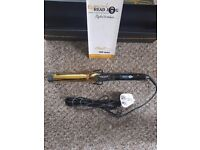 BRAND NEW NEVER USED ELECTRIC HEAD JOG TITANIUM GOLD WAVING IRON