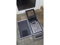 Dj mixer with flight case
