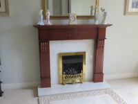 Gas Fireplace with Bespoke Cherrywood surround