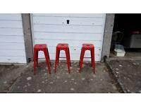 Ikea metal bar stools