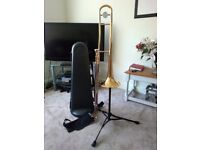 Yamaha YSL-354 Trombone with stand and spare mouthpiece
