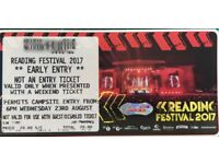 Reading Festival Early Entry Passes- 4 Available- Requires Weekend Camping Ticket £20 each