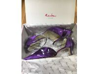 Unworn Size 6 Purple Shoes from John Lewis. Rainbow Club (dyed and scotchguarded satin).