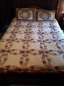 Handmade wedding quilt..asking $300 OBO