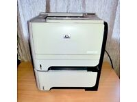 HP LaserJet P2055dn Mono Laser Printer - Extra Tray, Toner & Leads - Duplex & Networking