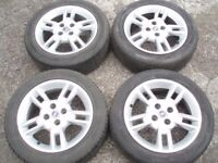 """Genuine set wheels 15"""" Fiat Punto Alfa Romeo 4x98 with tyres good condition Delivery available"""