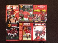 Six Manchester United Books / Annuals