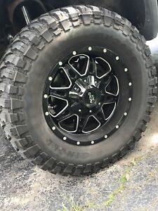 35x12.50xR18 12 ply mud tires and exlin rims