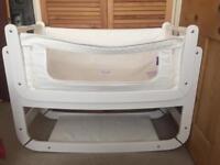 SnuzPod2 co-sleeping baby bed/crib/cot with mattress