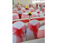 ****100 white chair covers for hire ***