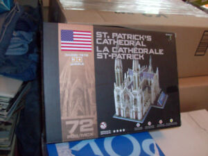 3D PUZZLE ST. PATRICK'S CATHEDRAL 72 PIECES NEW
