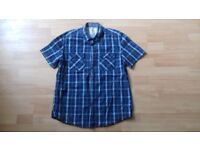 3 Mens, short-sleeve shirts in large size. Hardly worn.