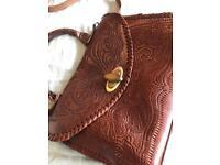 Genuine Brown Leather Handbag