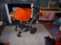 Bugaboo Cameleon 2 Red Pushchair + Joie Gemm Car Seat