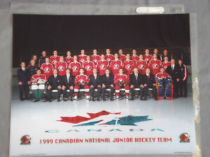 "8"" by 11"" photo of 1999 Canadian National Junior Hockey Team"