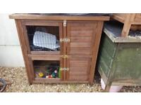 Double hutch for guinea pig small rabbit