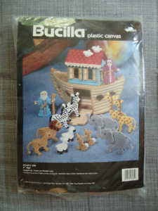 Bucilla Plastic Canvas Kit Noah's Ark new sealed