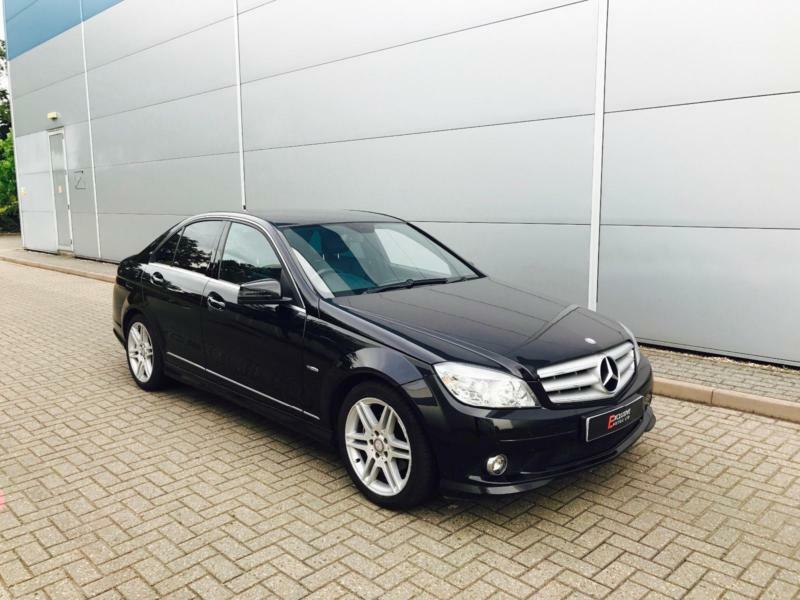 2010 60 reg Mercedes-Benz C250 2.1 CDI SPORT Blue F + BLACK + Saloon + NICE SPEC