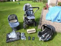 Uppababy Vista Pram 3-in-1 Travel System with Maxicosi Car Seat & Piggyback Board